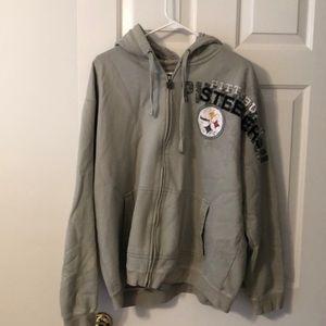 Hooded Full Zip Pittsburgh Steelers Hoodie